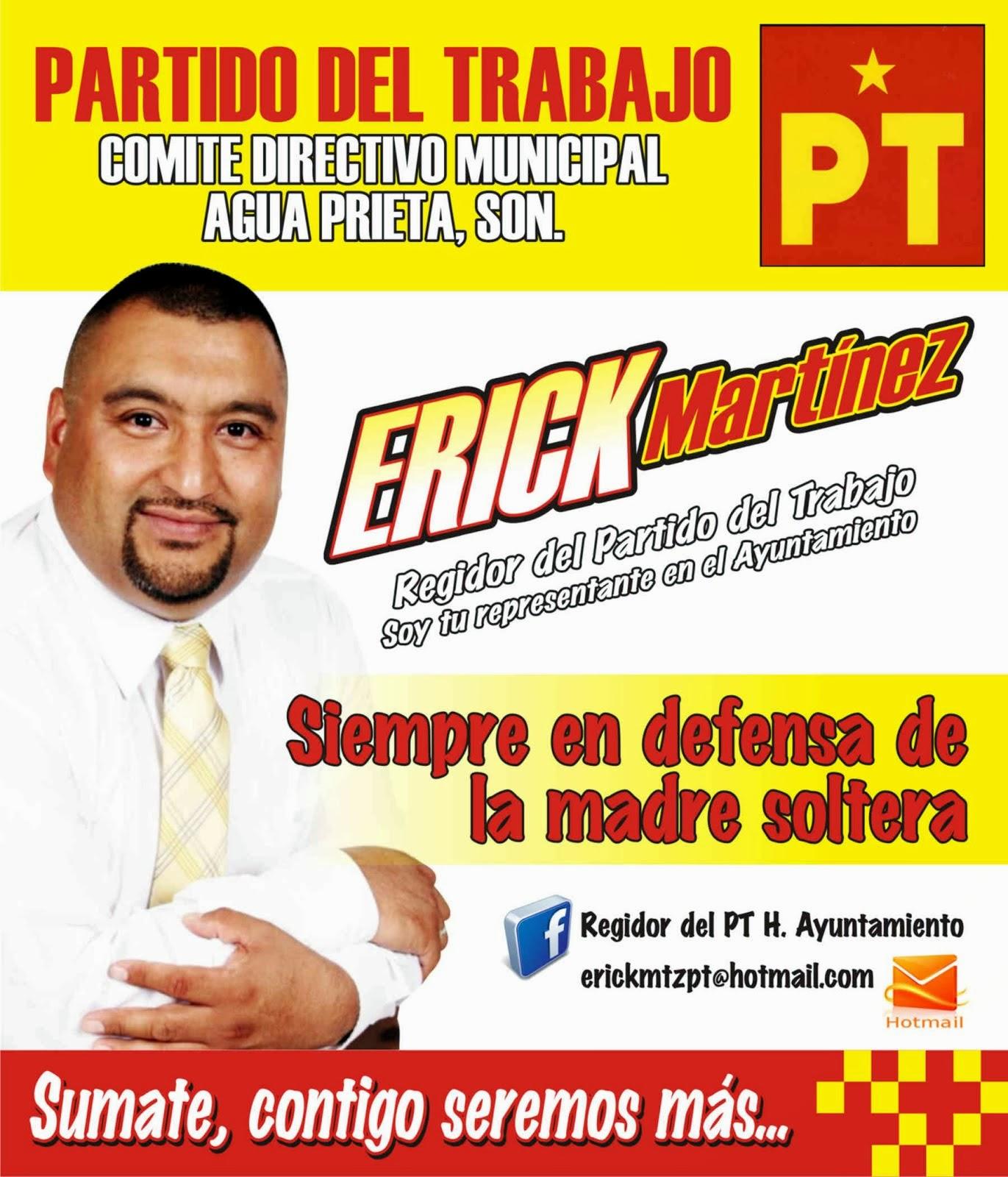 Regidor Erick Martinez