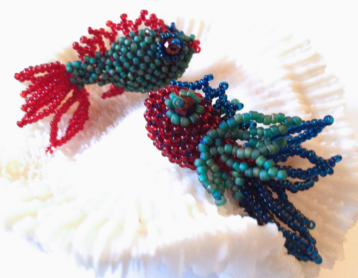 Fancy Fish workshop at Fusion Beads in Seattle, Saturday, March 29th
