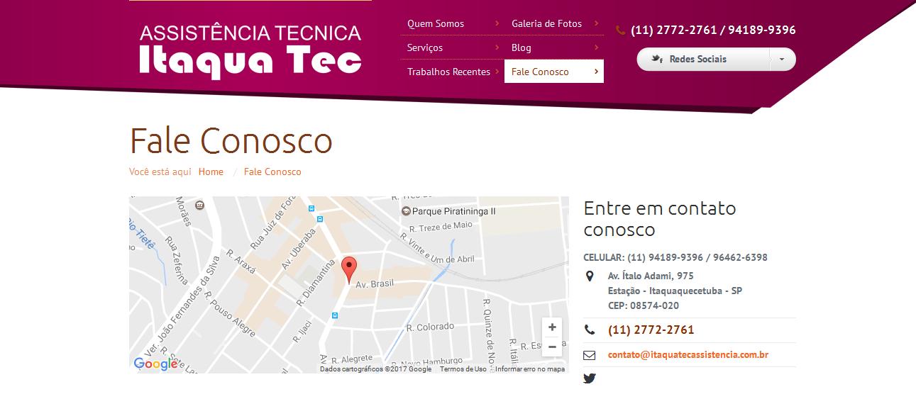 ITAQUA TEC ASSISTÊNCIA TÉCNICA
