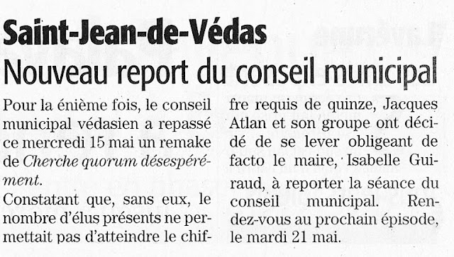 Midi Libre 17 mai 2013 - Conseil municipal 