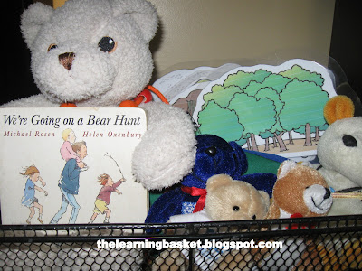 going on a bear hunt learning basket