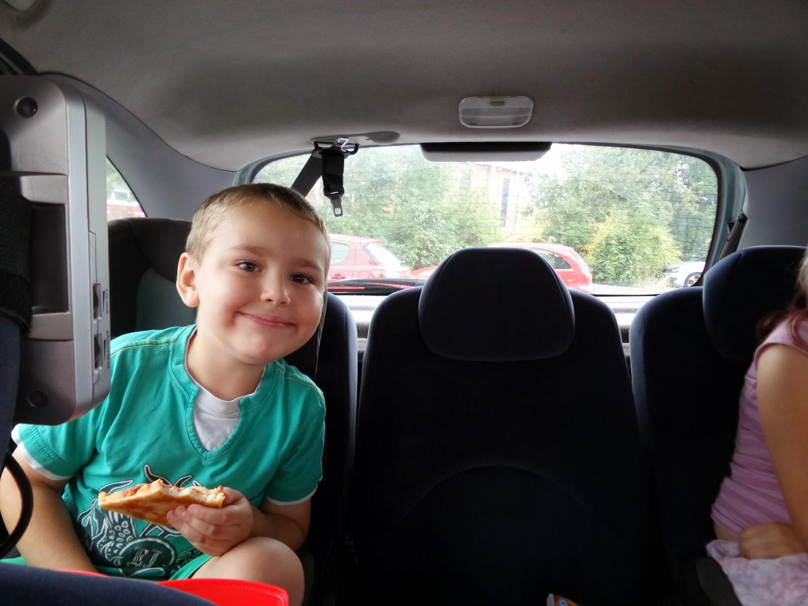 Big Boy on a car picnic