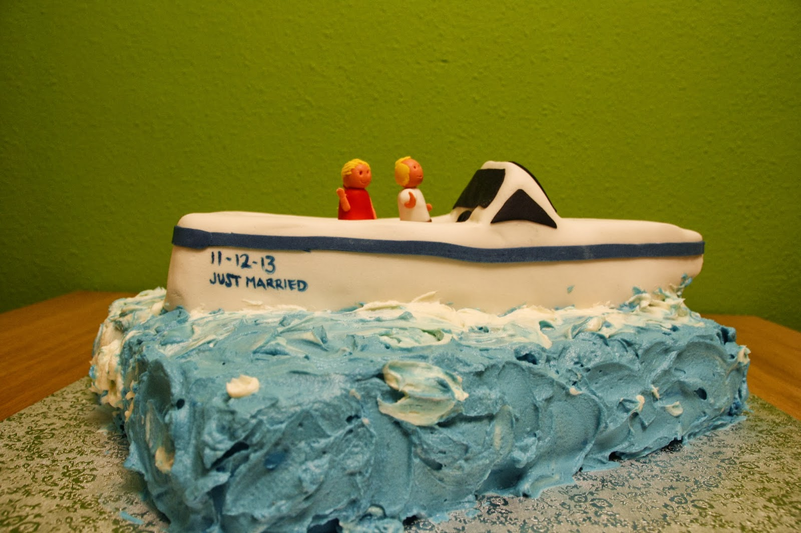 Tarta decorada en forma de vaixell en RKT