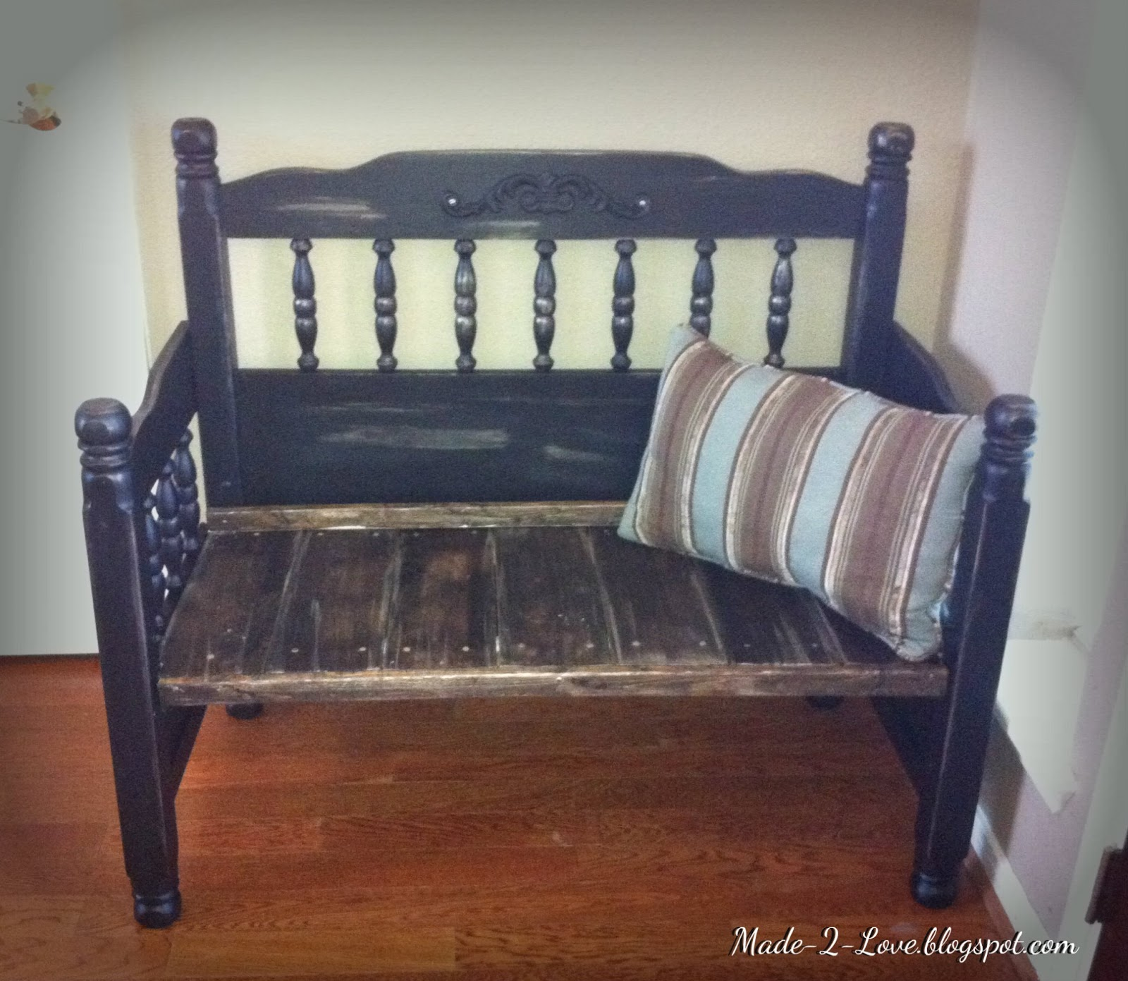 Made To Love Up Cycled Headboard Footboard