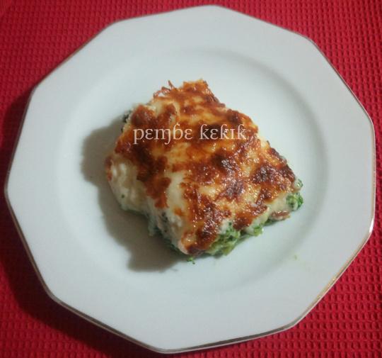 beşamel soslu tavuklu brokoli