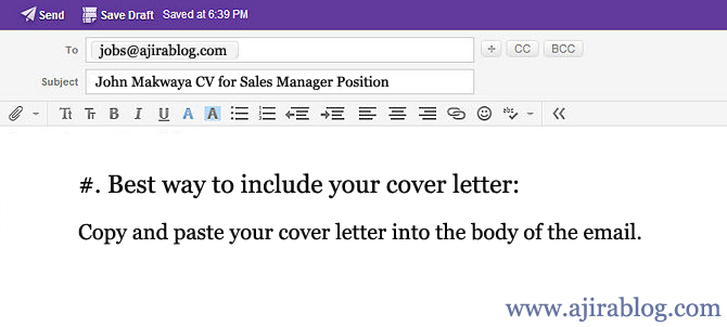 the best way to apply for a job through email