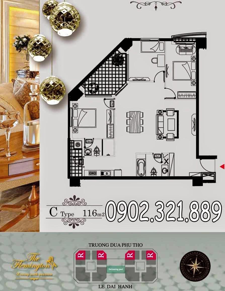 căn hộ 116m2