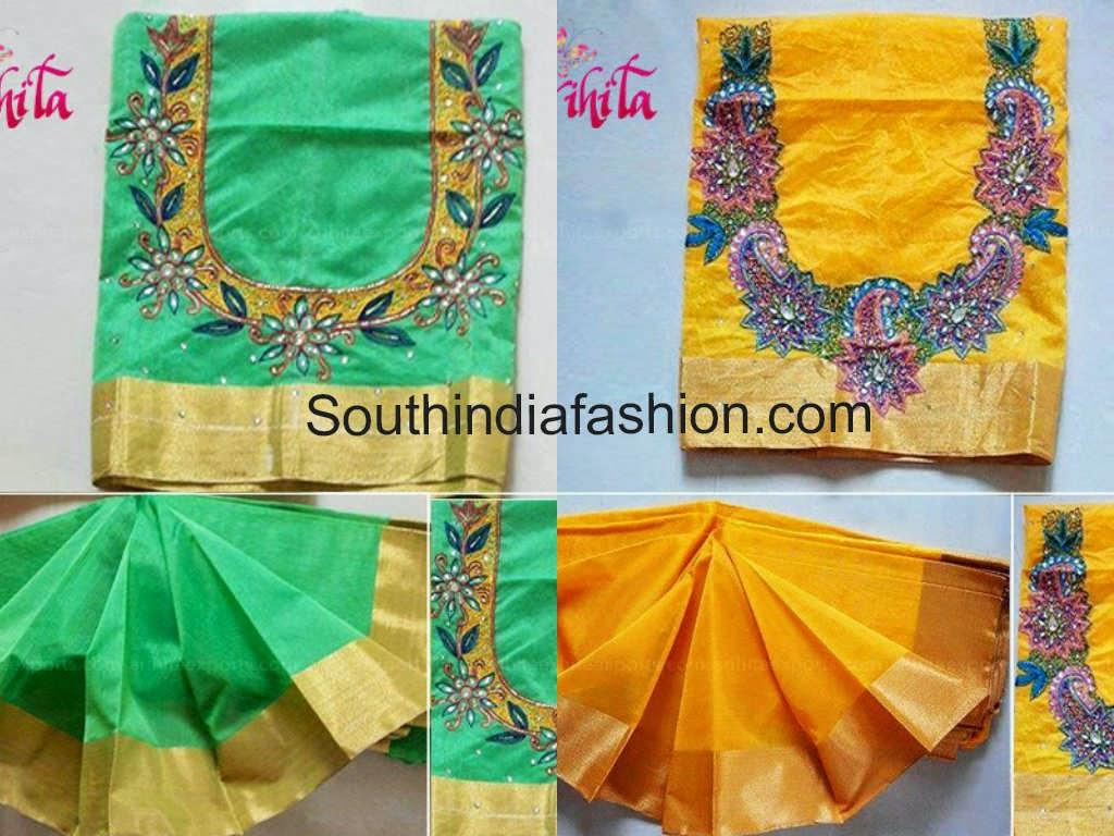 plain silk sarees with blouses