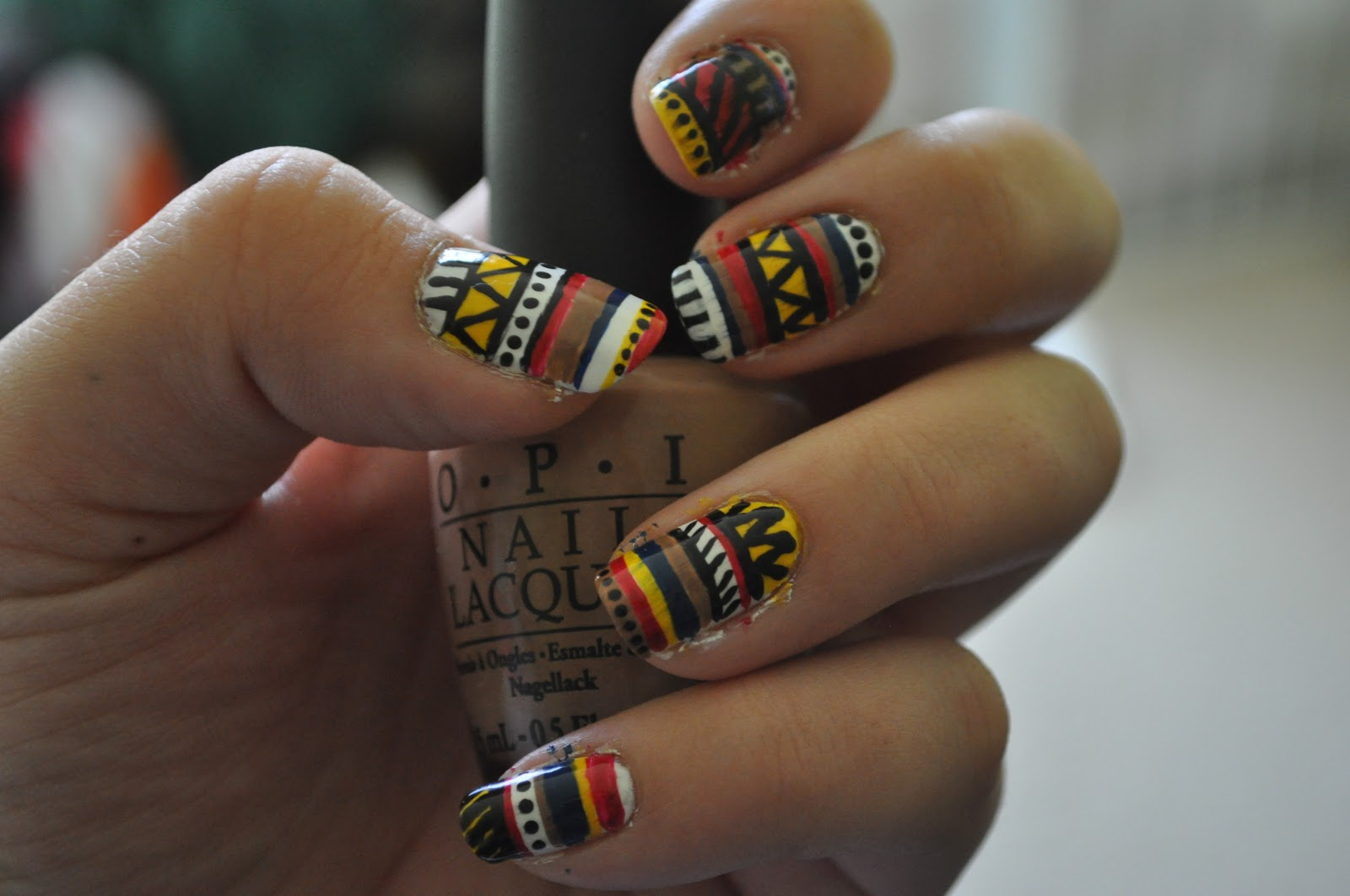 Easy nail art designs tribal native american inspired nails tribal native american inspired nails prinsesfo Gallery