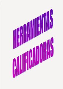 HERRAMIENTA CALIFICADORA