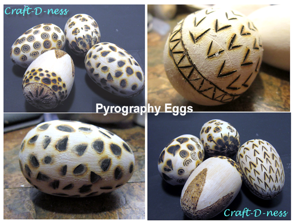 Pyrography Eggs
