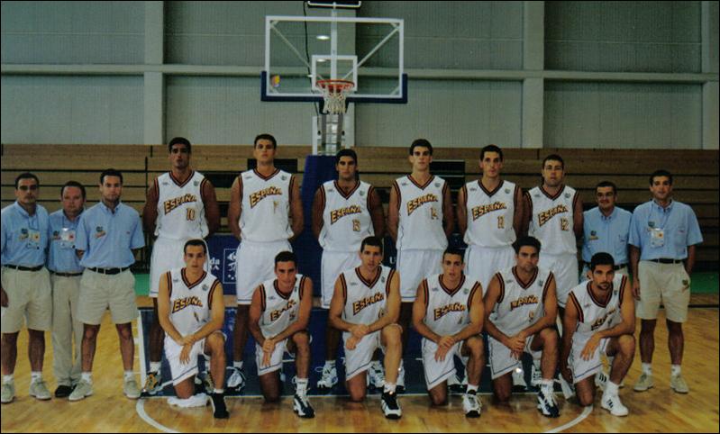 """ESPAÑA """"B"""". UNIVERSIADA de PALMA.1999 ESPAÑA."""