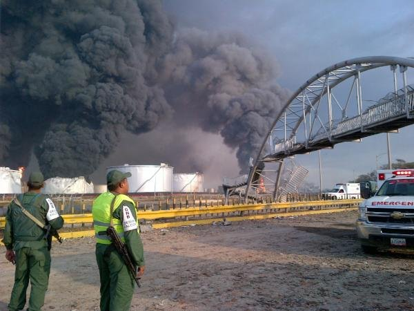 Blast in Oil Refinery of Venezuela