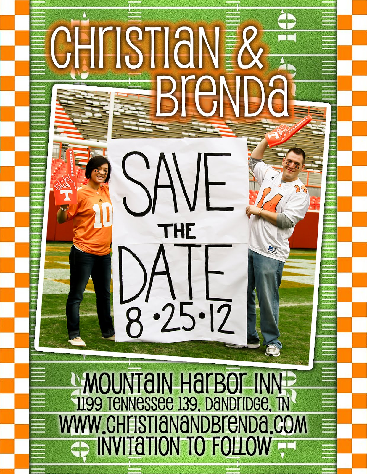 absolute appeal design football theme save the date