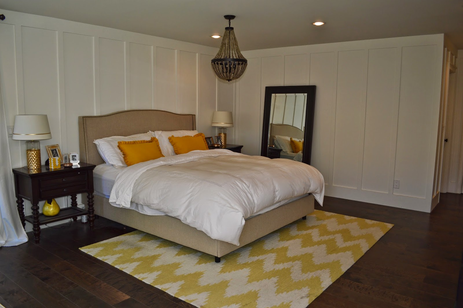the cape cod ranch renovation the mustard yellow master bedroom