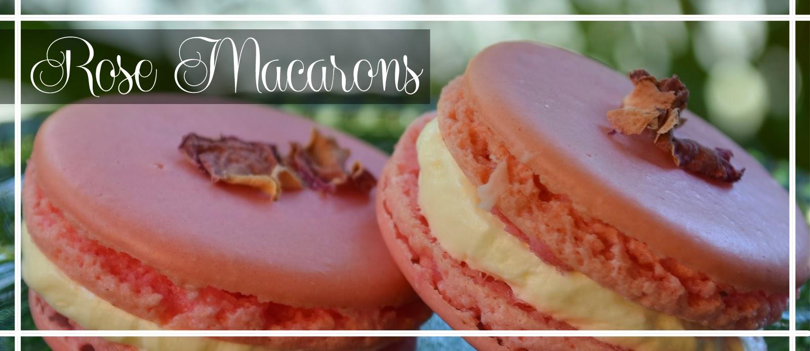 macaron buttercream pink flower food visual baking
