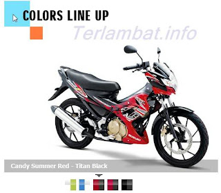 Satria FU 150 warna Merah Hitam (titan black)