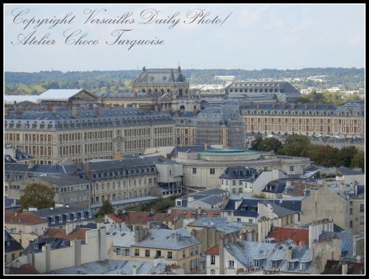 Château de Versailles from above