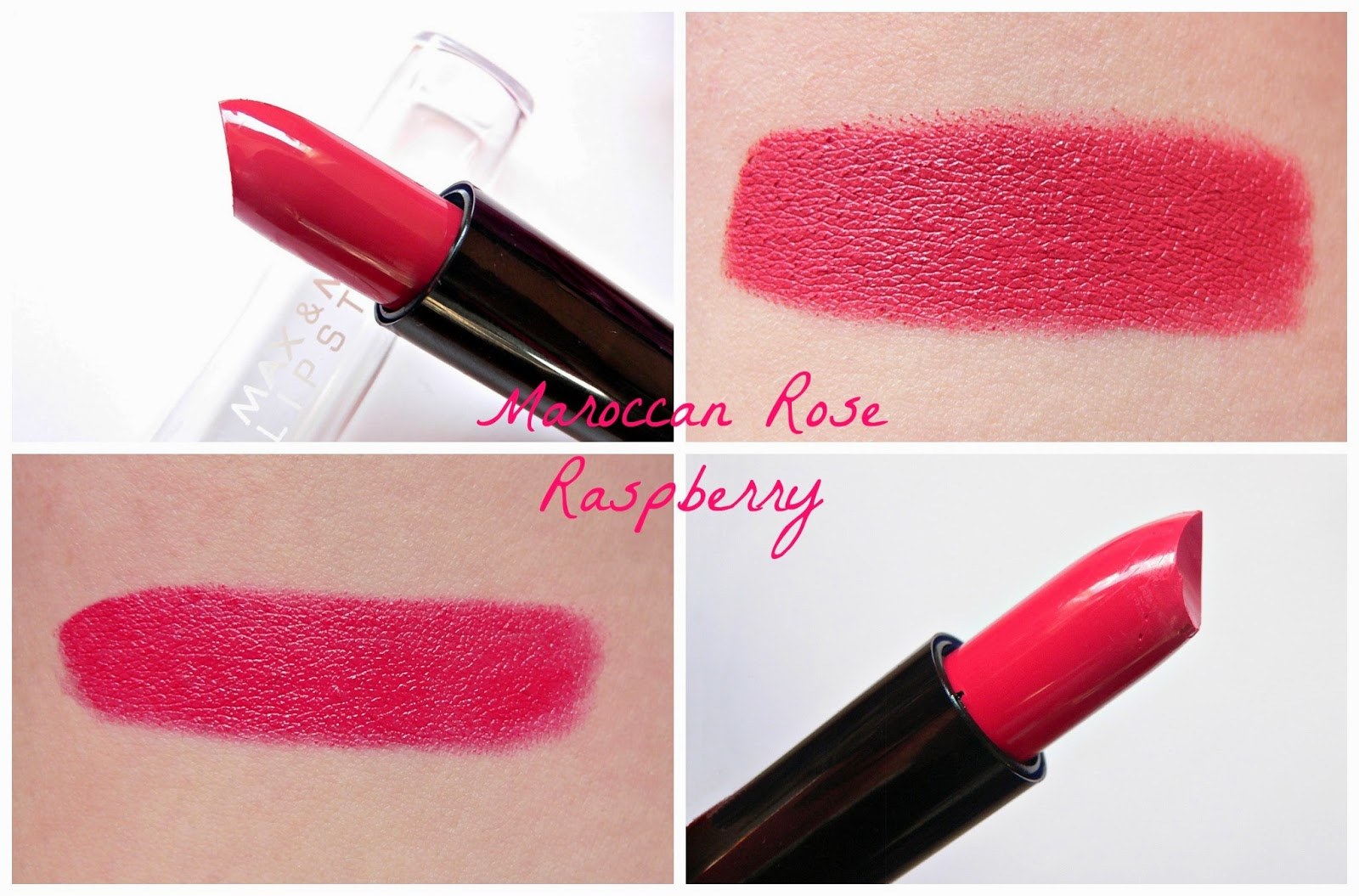 lipstick-addict.nl, review, swatches, lipstick, lipsticks, action, max&more, budget, roze, shoplog, maroccan rose, raspberry