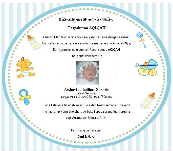Kartu Ucapan Syukuran Kelahiran Anak And Post AjilbabCom Portal