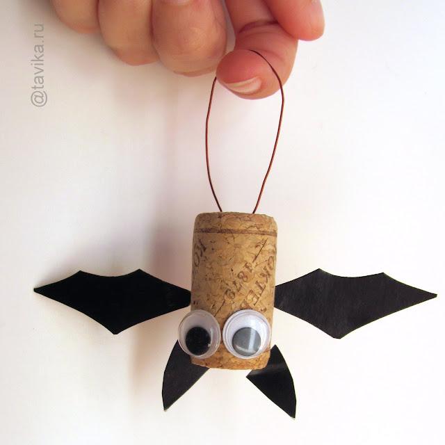 поделка летучая мышь на Хэллоуин