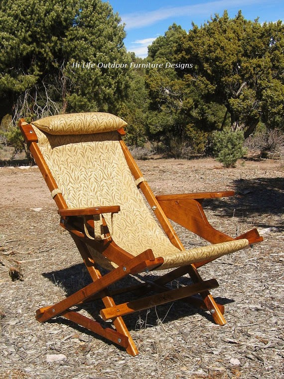 Golden Harvest Wheat Deluxe Fisherman Sling Chair