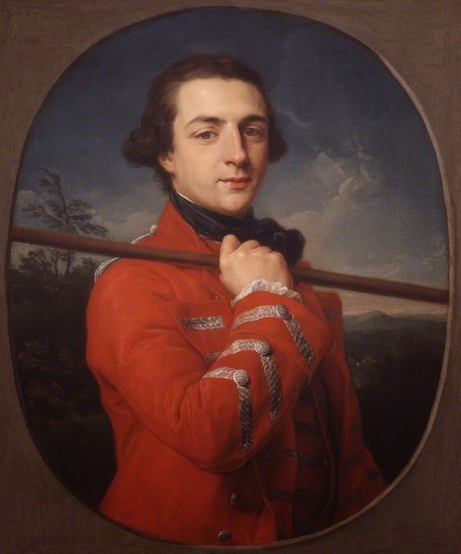 Augustus Henry Fitzroy, 3rd Duke of Grafton,  by Pompeo Batoni, oil on canvas,   feigned oval (1762) © NPG 4899