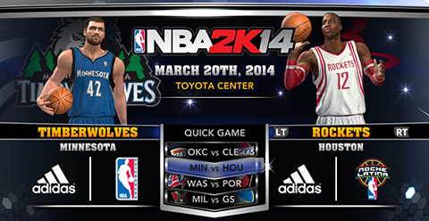 NBA 2K14 Official Roster Update - March 20th, 2014