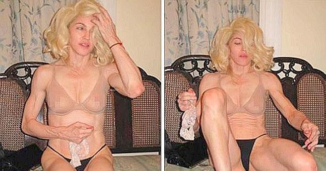 Madonna y las fotos desnuda son robadas