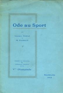 """""""Oda al deporte"""". Oro olímpico en Literatura 1912"""