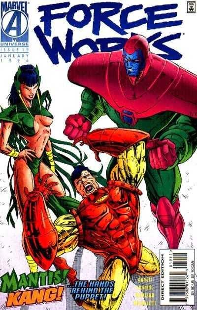 Force Works 19 cover Kang Mantis Iron Man