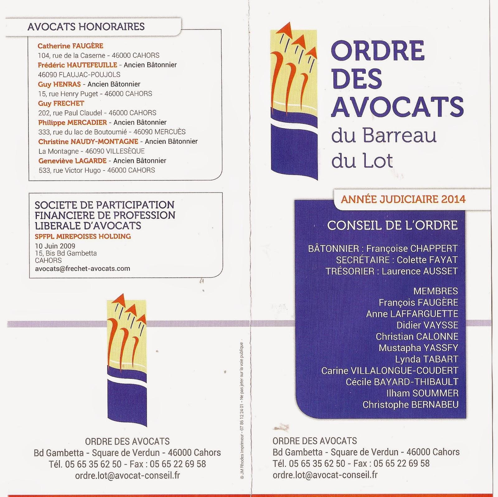 Conseil départemental de l acc¨s au droit du Lot Avocats 46
