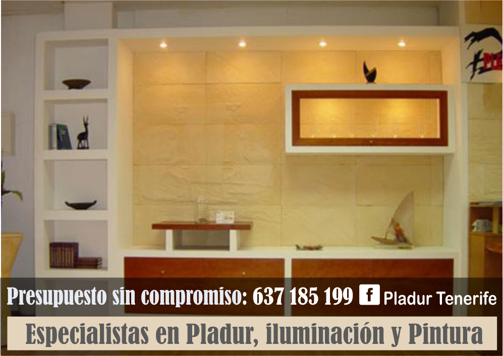 Pladur tenerife muebles empotrados y estanter as en pladur for Muebles de pladur para salon