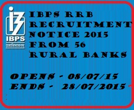 IBPS RRB Recruitment 2015: Notifications, Eligibility