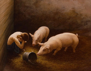 prodigal son with pigs