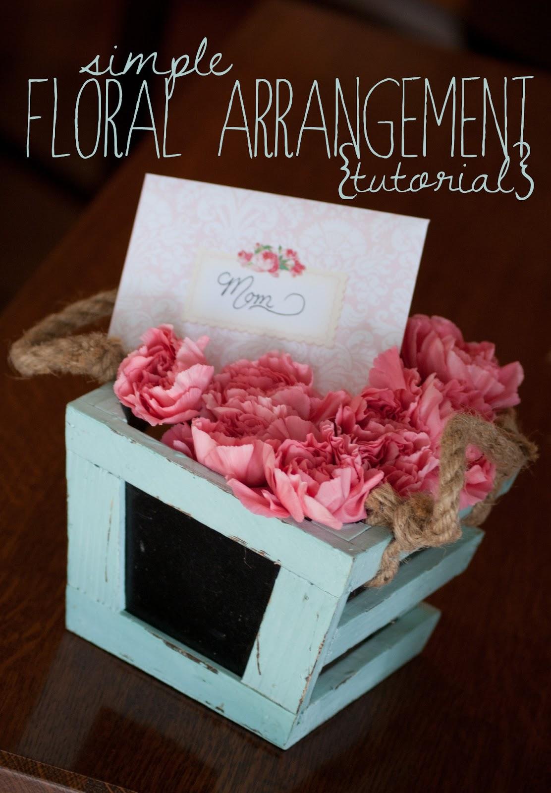 Simple floral arrangement tutorial averie lane