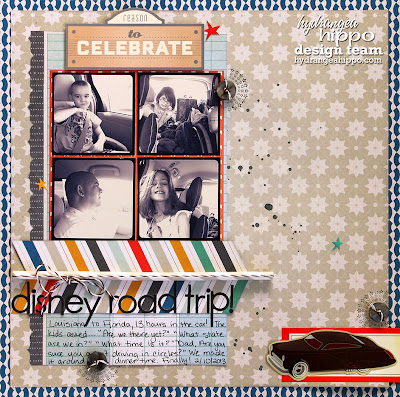Disney World Road Trip_Scrapbook Page
