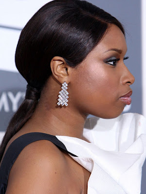 Jennifer Hudson Sterling Geommetric Earrings