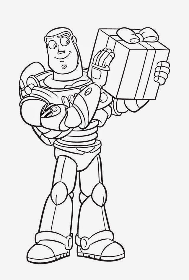 Maestra de infantil toy story y buzz lightyear dibujos for A christmas story coloring pages