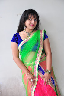 New actress Roshini half saree Picture shoot 034.jpg