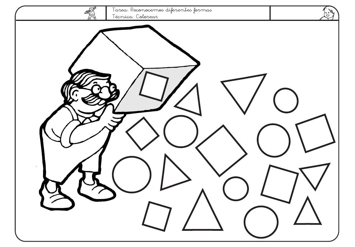 Dibujos para todo: Fichas de figuras geométricas
