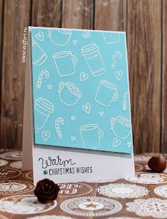 открытка ручной работы, новогодние открытки, coffart