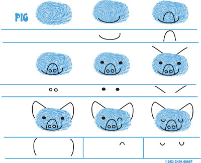 Ed Emberley's Pig Drawing Page