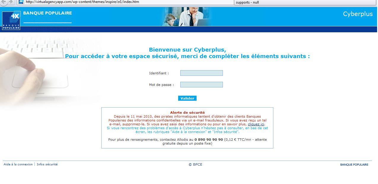 connexion cyberplus mobile banque populaire