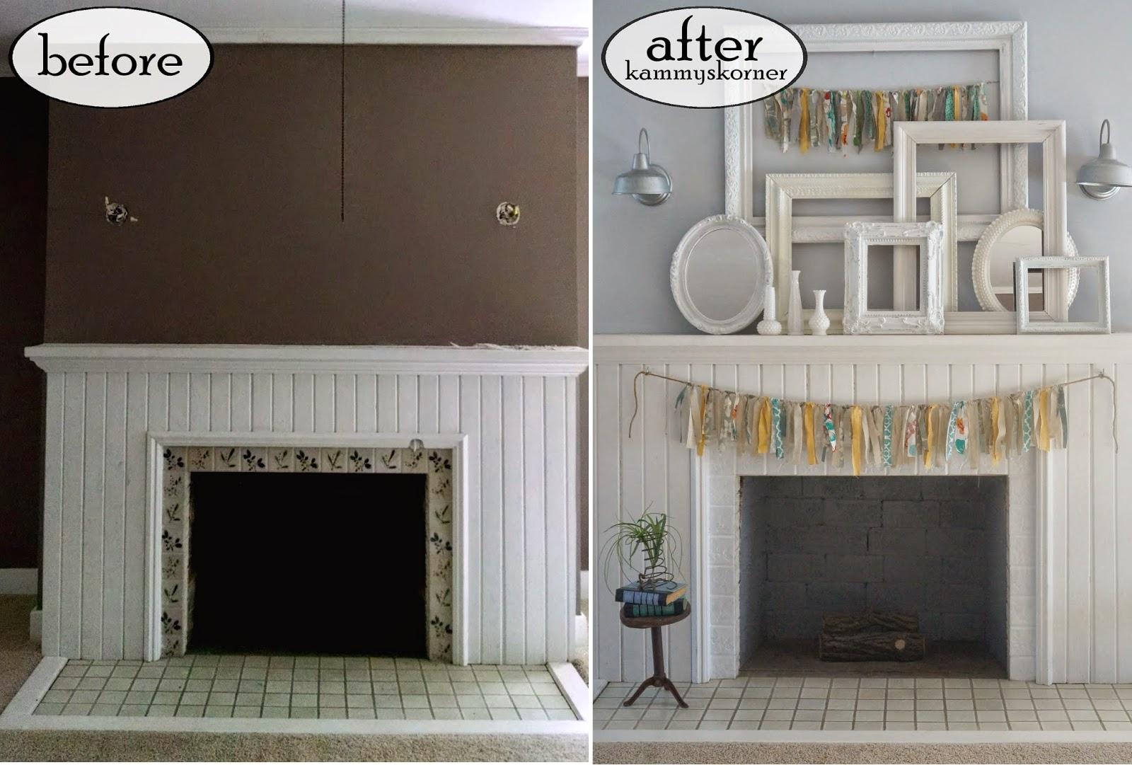 kammy u0027s korner fireplace 3 all shabby chic master bedroom