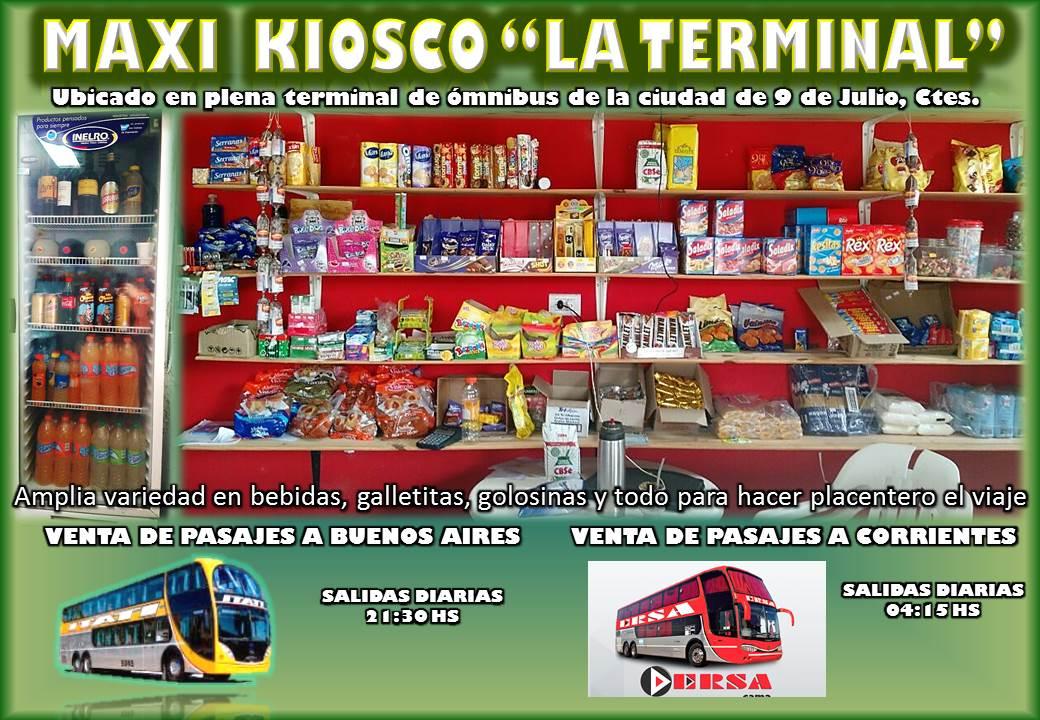 KIOSCO LA TERMINAL 9 DE JULIO