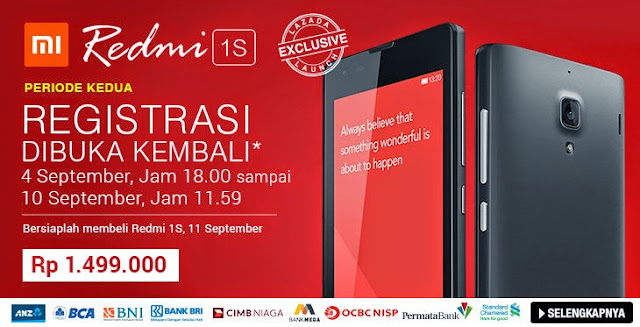 flash sale redmi xiaomi 1s
