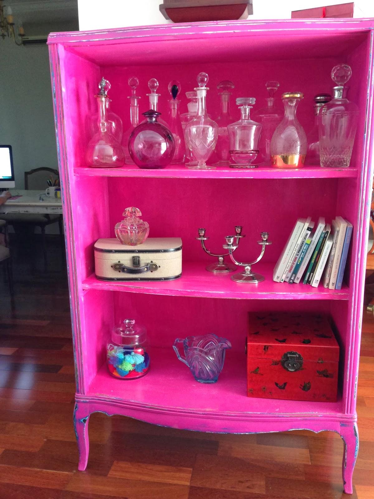 Diseos Muebles Pintados Comoda Y Espejo Para Recibidor With  # Muebles Color Fucsia