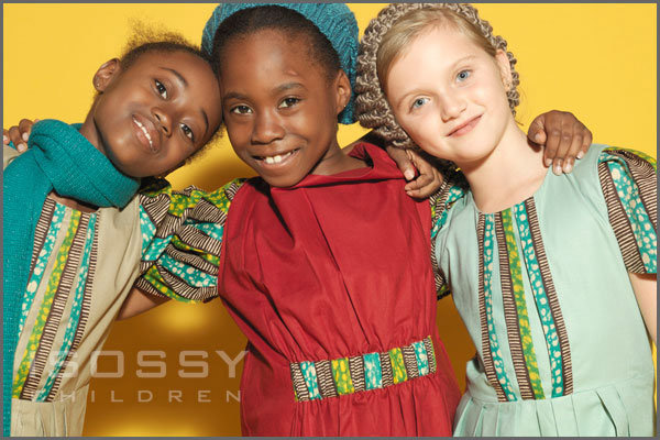 The concept for Isossy Children is using African and Asian textile influences