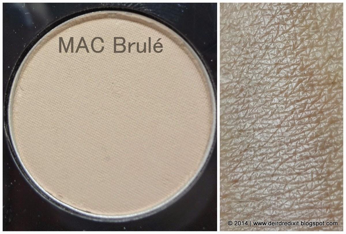 Swatch Mac Brule Eyeshadow